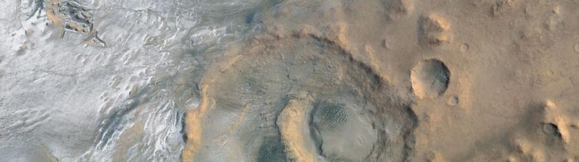 Frost in Hooke Crater, Mars