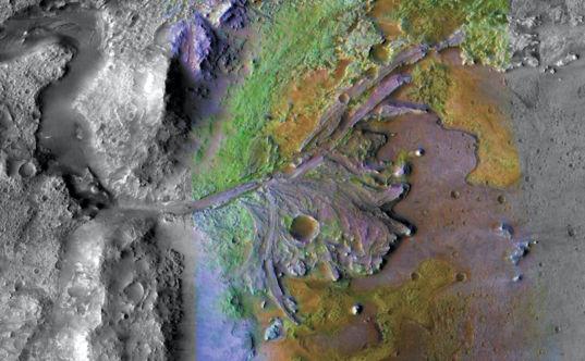 Diverse exposed surface mineralogy around the Jezero delta