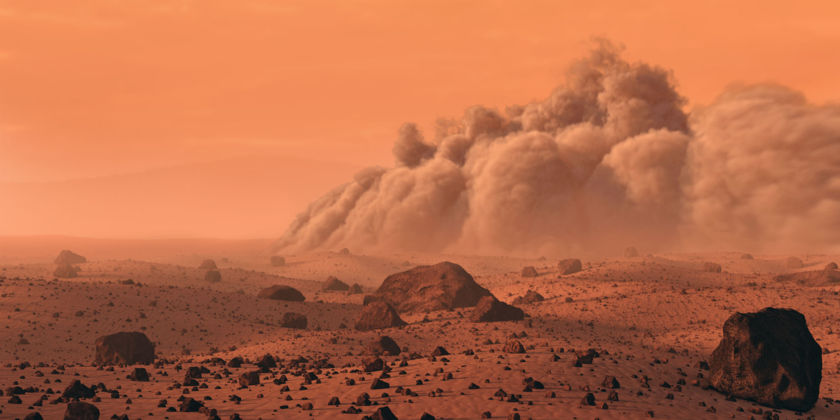 Dust Storm on Mars by Mark A. Garlick