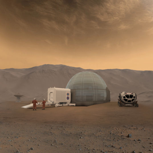 Artist's rendering of the Mars Ice Home concept