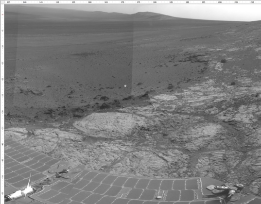 Navcam sol 3182 end-of-drive panorama