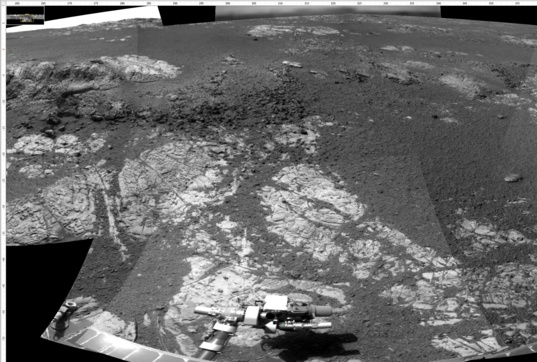 Navcam view looking west from station 14