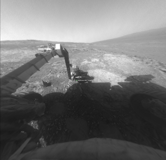 Opportunity front Hazcam view north across the west flank of Cape York