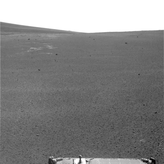 Navcam view looking south at the end of the sol 3310 drive
