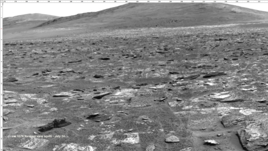 Opportunity Navcam mosaic, sol 3378