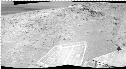 Opportunity's view on sol 3494