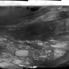 Opportunity's forward view on sol 1278