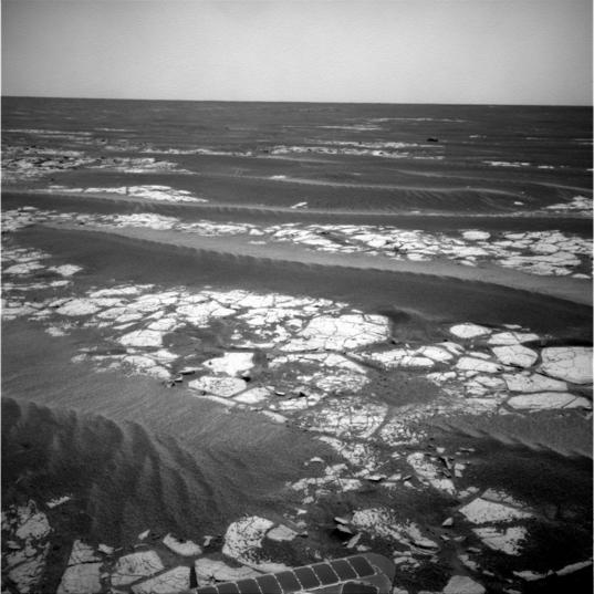 Opportunity Navcam view, sol 2,020