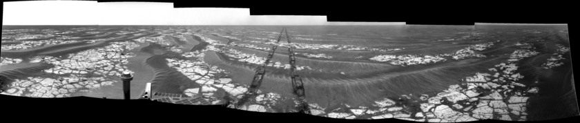 Opportunity Navcam panorama, sol 2,017