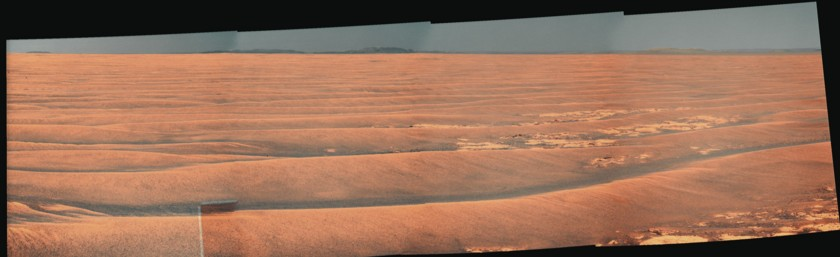 Opportunity's drive direction panorama, sol 2300 (13 July 2010)