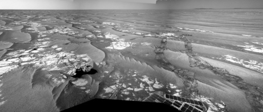 Opportunity Navcam panorama, sol 2368 (September 21, 2010)