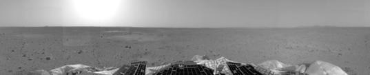Spirit's landing site