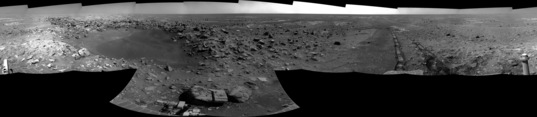 Concepcion crater, Opportunity sol 2147