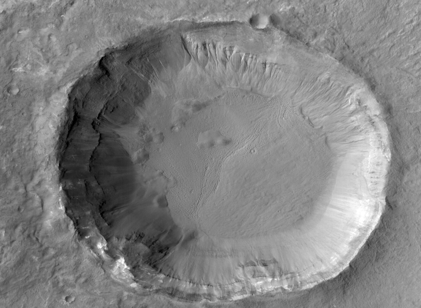 Gullied crater in Terra Cimmeria