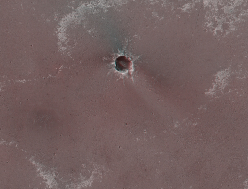 Anaglyph of Santa Maria crater and surroundings
