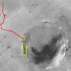 Context map for mineralogy near Endeavour crater