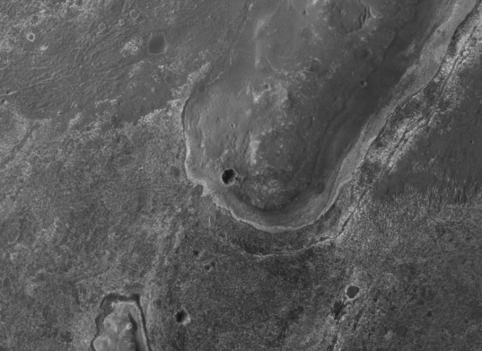 Opportunity on Endeavour's rim, sol 2712
