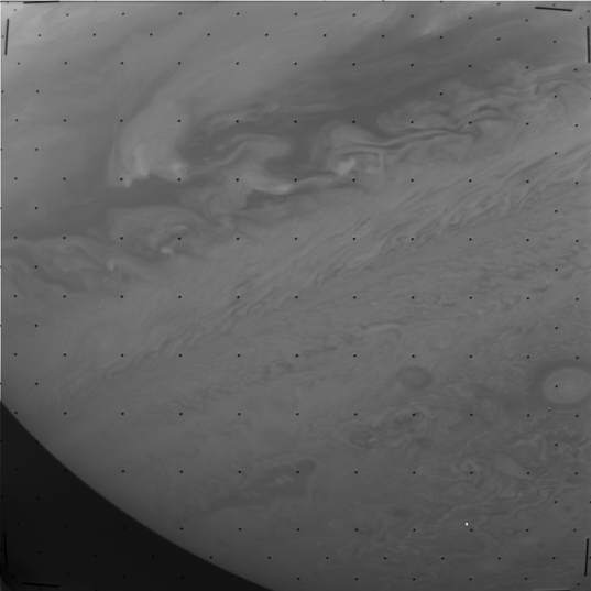 An original, unprocessed Voyager 1 image of Jupiter