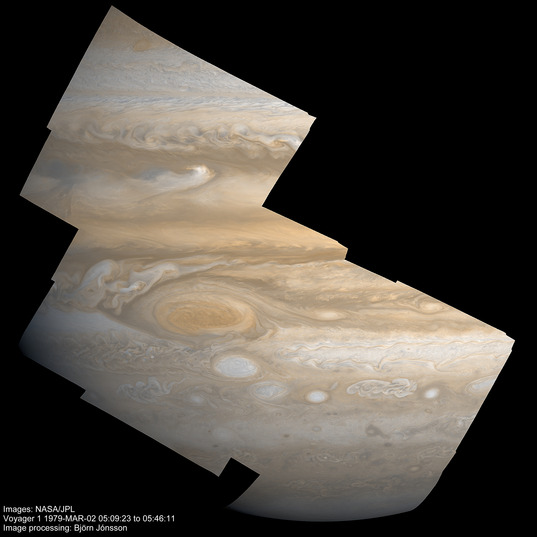 High-resolution mosaic of Jupiter