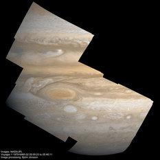 High-resolution mosaic of Jupiter