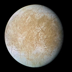 Europa in color: trailing hemisphere (Galileo, 19 September 1997)