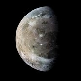 Ganymede in color from Galileo's E6 flyby