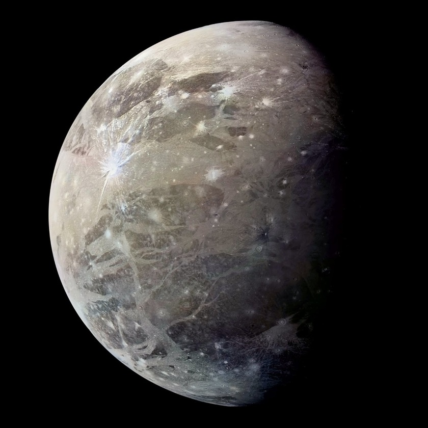 Ganymede in color from Voyager 1