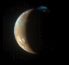 Io erupts, in color (MVIC only)
