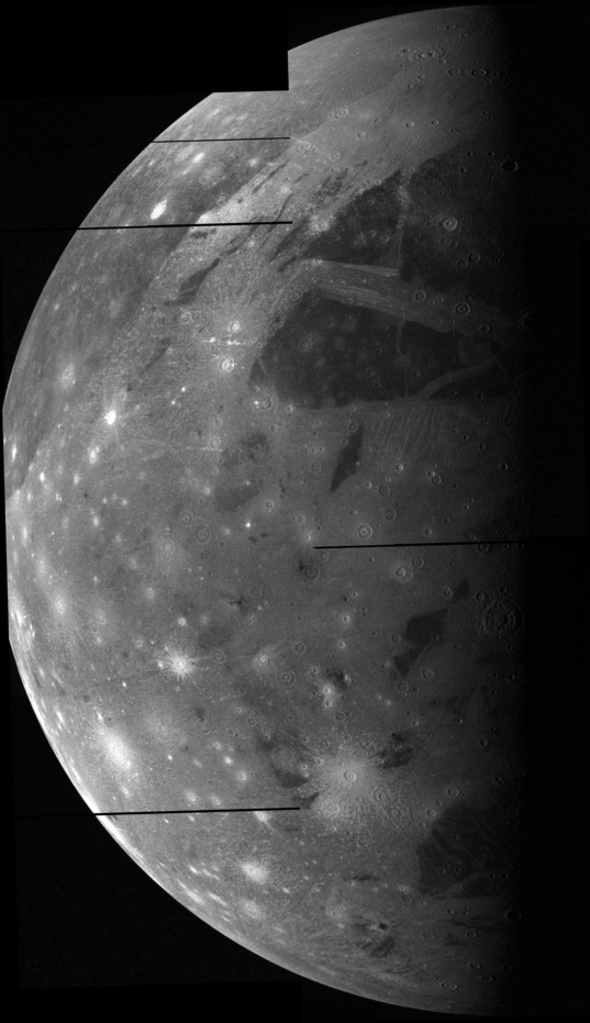 Ganymede from Galileo's C9 flyby