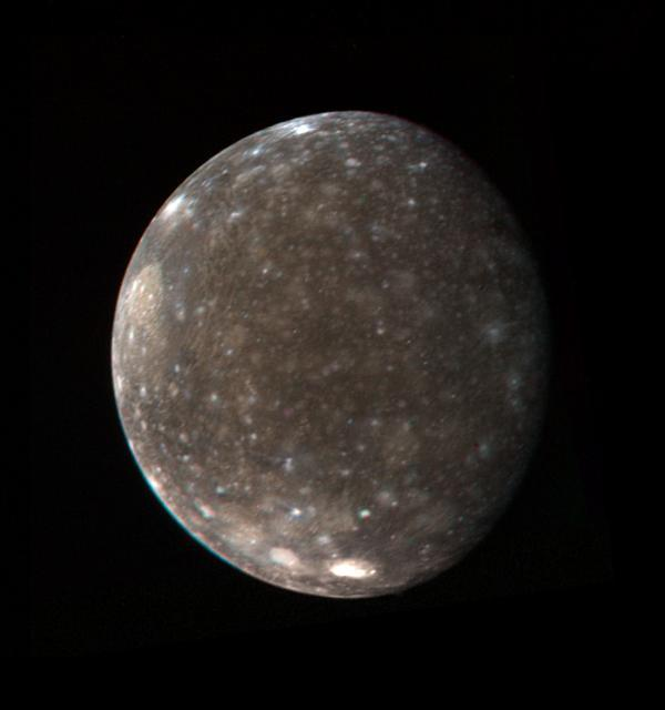 Voyager 1 global color view of Callisto