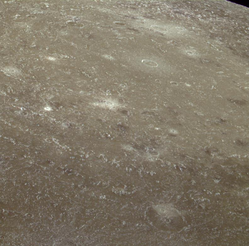 Oblique view of Valhalla impact basin, Callisto