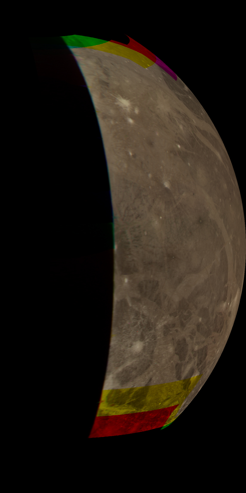 Ganymede's trailing hemisphere from Voyager 2