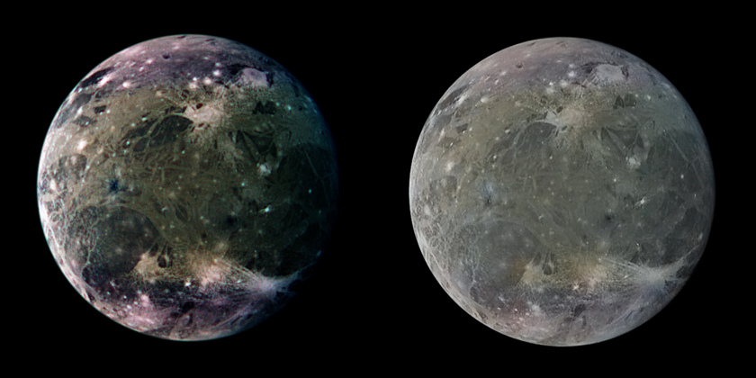 Color processing of Galileo global images of Ganymede