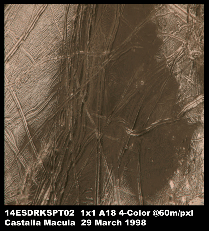 Galileo color view of Europa's Castalia Macula