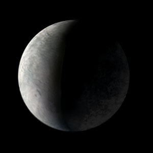 Voyager 2 view of Europa's night side