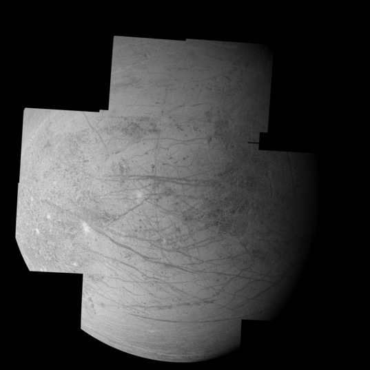 Europa mosaic from Galileo's I25 orbit