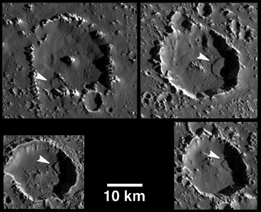 Debris slides on Callisto