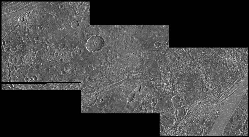 Nicholson Regio and Arbela Sulcus, Ganymede