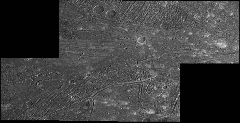 Sippar Sulcus calderas on Ganymede