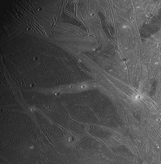 Ganymede's Marius Regio and Nippur Sulcus