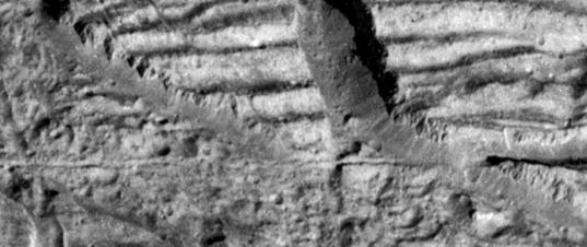 Icy cliffs on Europa
