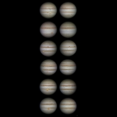 Jupiter's changing face, 2009-2015