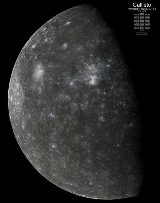 Callisto from Voyager 1