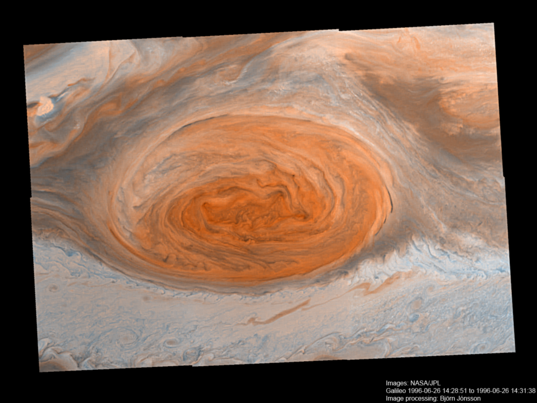 Jupiter's Great Red Spot Galileo Anniversary Mosaic 3