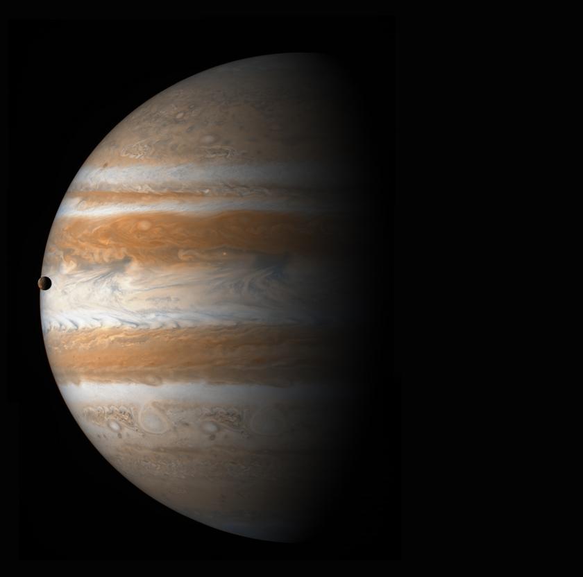 Jupiter & Io from Cassini