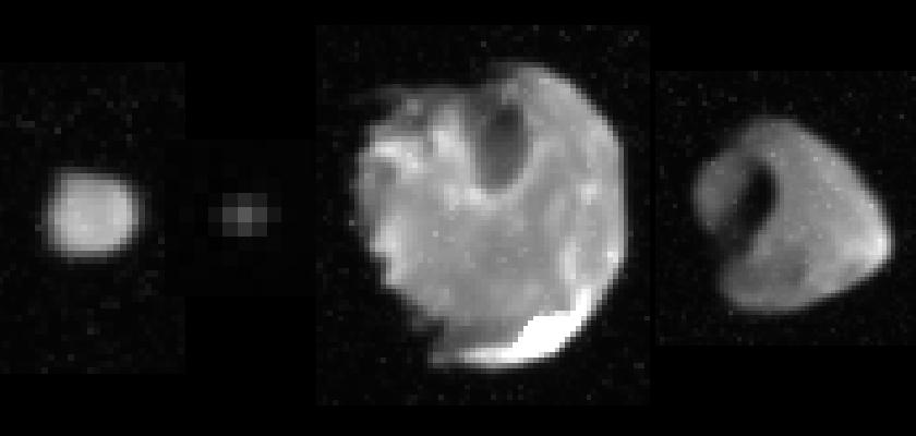 Galileo's highest-resolution images of Jupiter's ringmoons