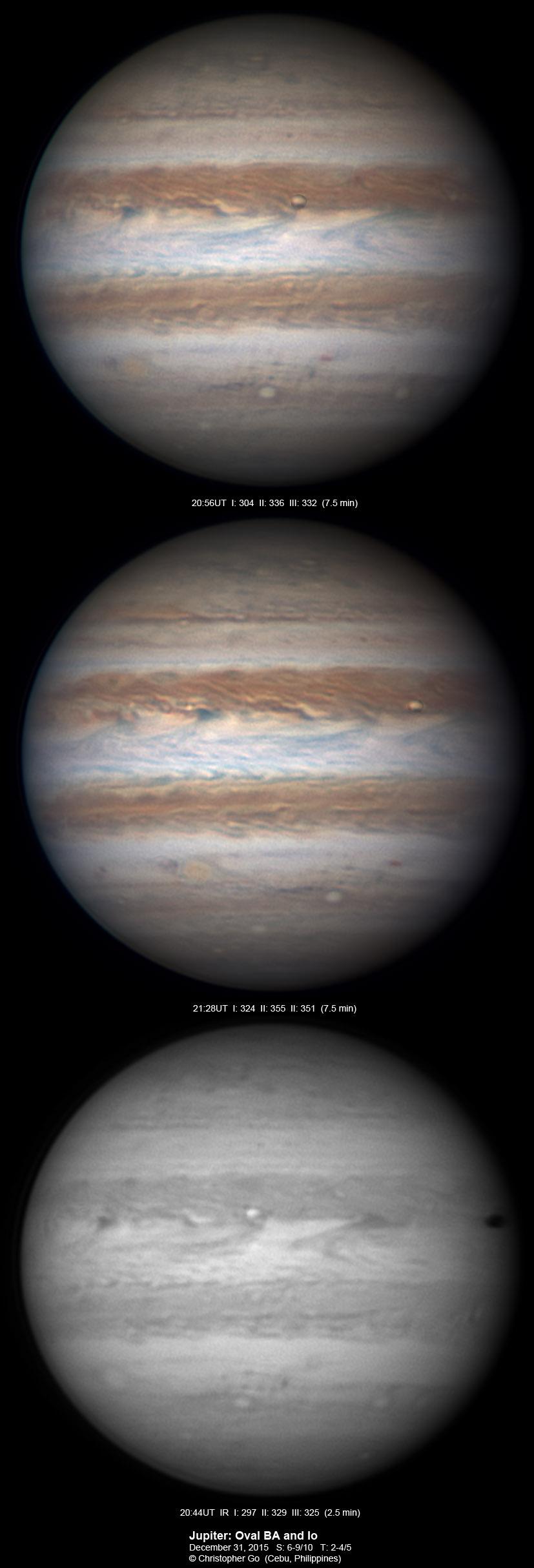 Io transits Jupiter