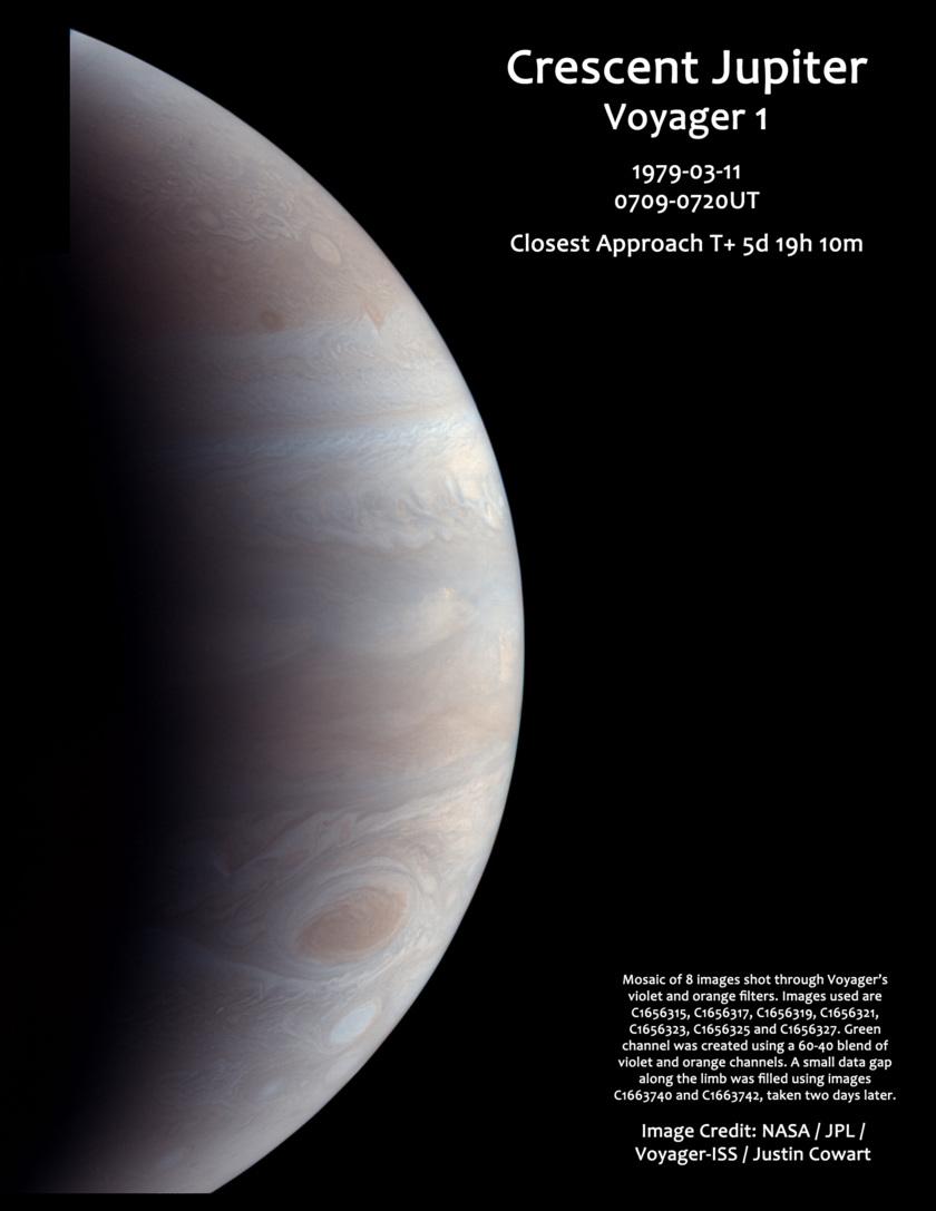 Voyager 1 departs Jupiter