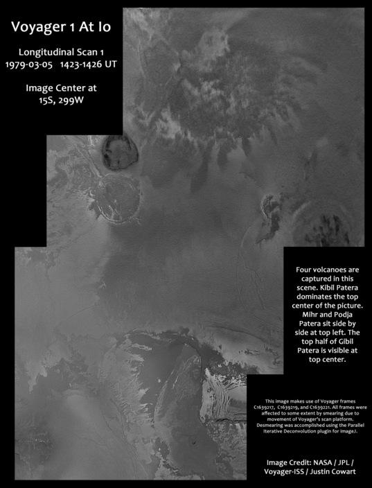 Voyager 1 longitudinal scan 1 of Io
