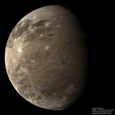 Huge color Voyager 1 Ganymede mosaic